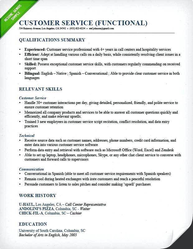 Customer Service Resume Sample – Okurgezer.co