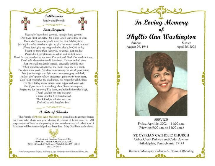 Funeral Program Templates | Download Free & Premium Templates ...