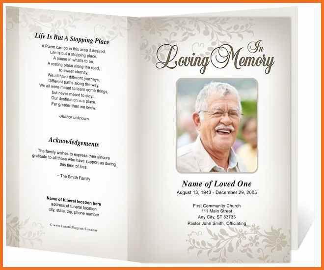 Funeral Program Format. Funeral Memorial Template For Dad 73 Best ...