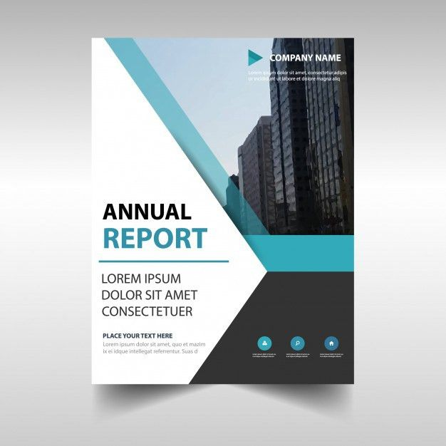 Elegant blue professional annual report template Vector | Free ...