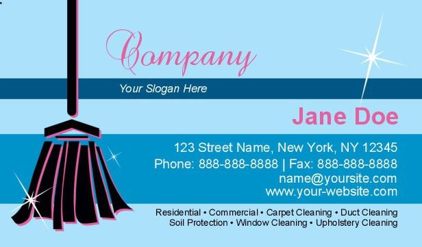 Cleaning Services Business Cards - lilbibby.Com