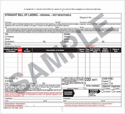 8 Best Images of Hazardous Bill Of Lading Format - Hazmat Bill of ...