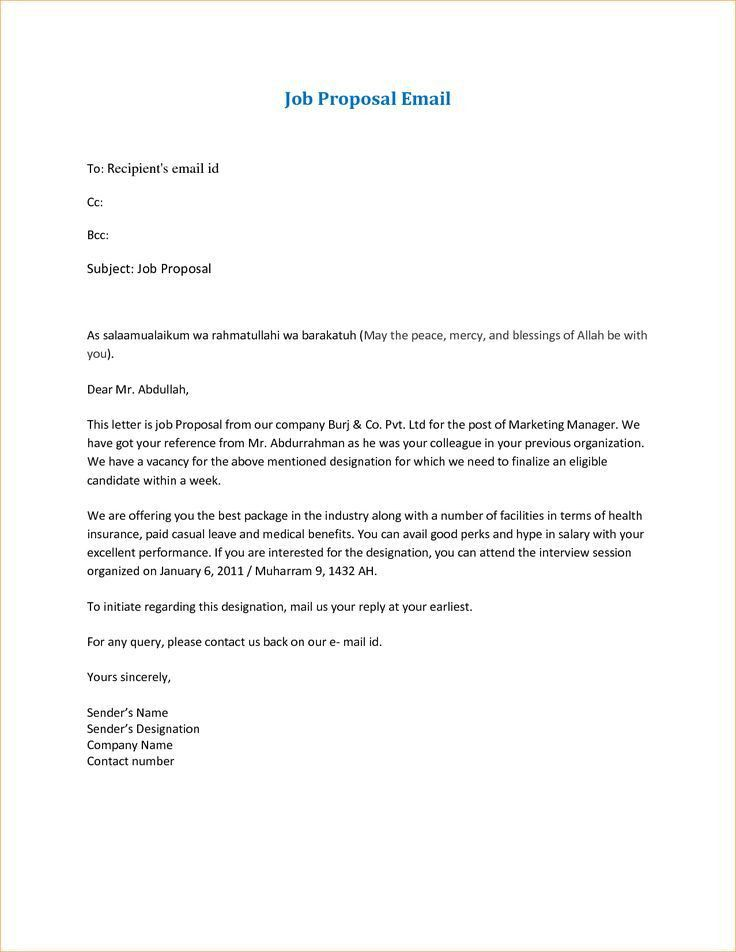 The 25+ best Sample of proposal letter ideas on Pinterest | Sample ...