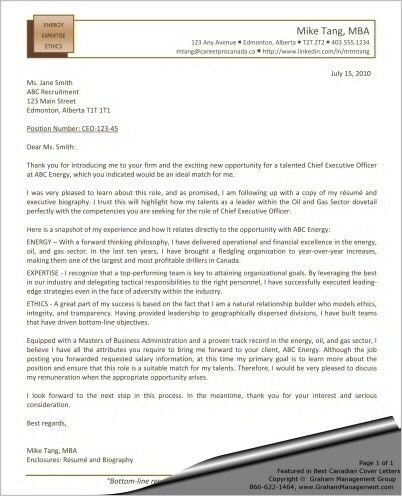 CEO Cover Letter - Chief Executive Officer - Sharon Graham