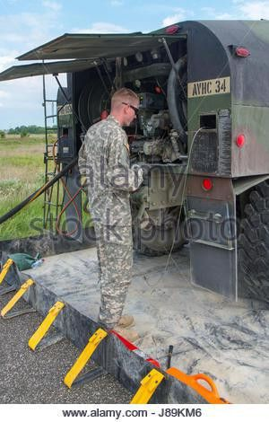U.S. Army Spc. Anthony Gibbs, a petroleum supply specialist ...