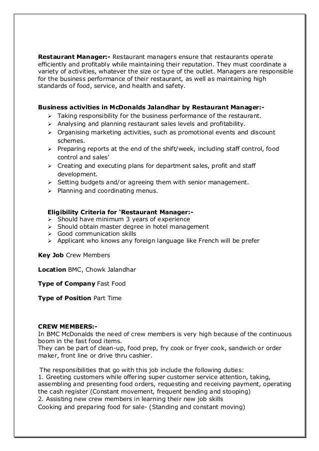 Mcdonalds mini project(Recruitment Process & T&D )