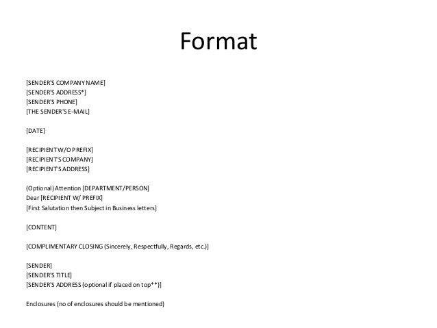 Class 1(business letter)