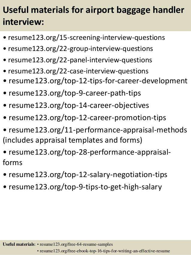 resume baggage handler resume. airport baggage handler resume ...