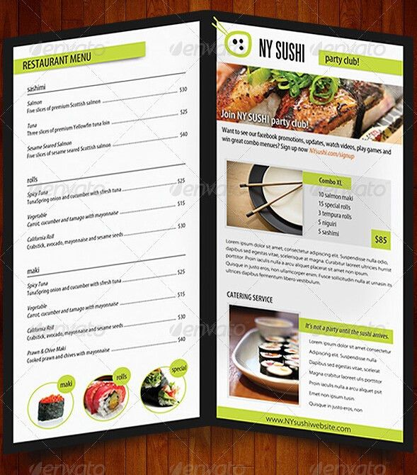 10 Amazing Food & Drink Brochure Templates – Free PSD, AI, JPG ...