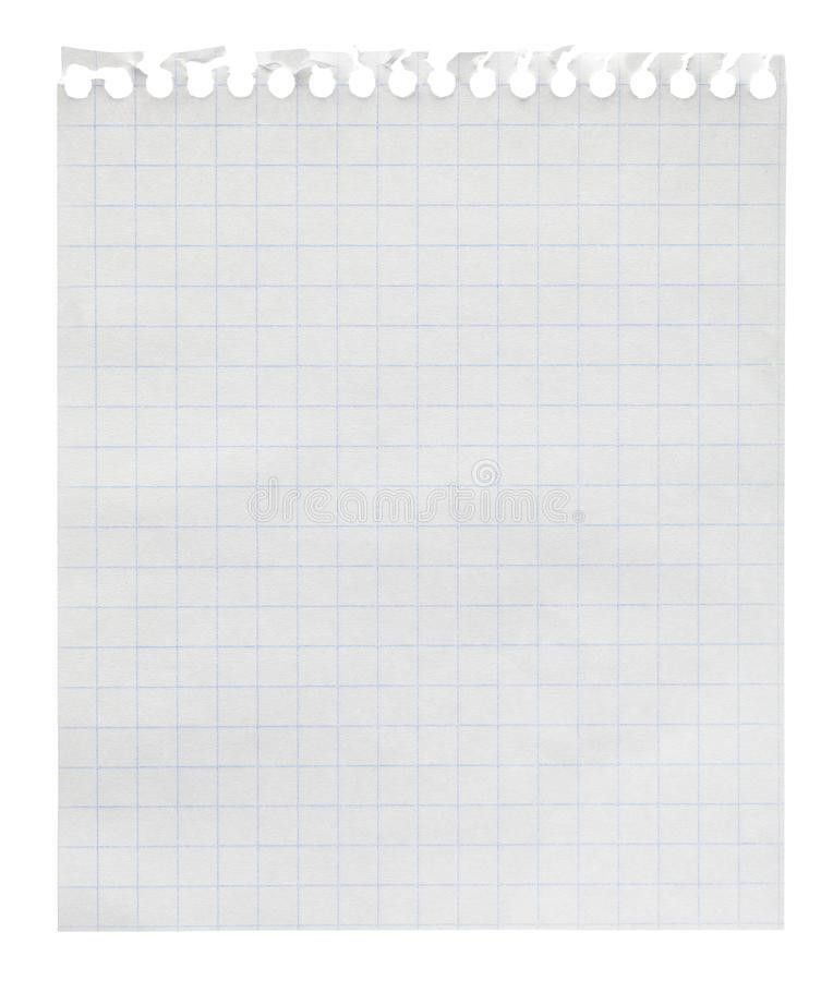 Squared Paper Loose-leaf Note Sheet Stock Photography - Image ...