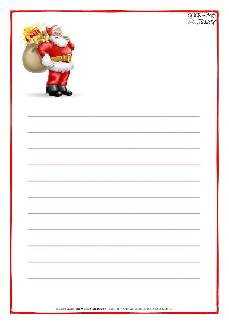 Letter to Santa Claus paper with lines Santa presents-18