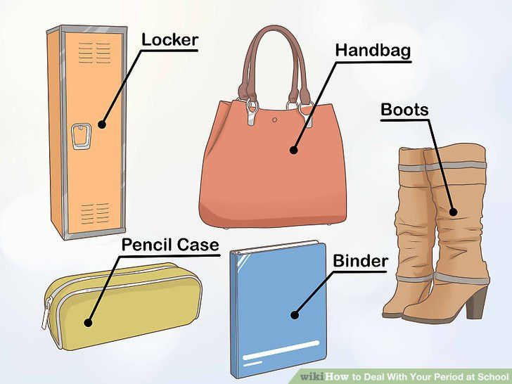 How to Deal With Your Period at School (with Pictures) - wikiHow