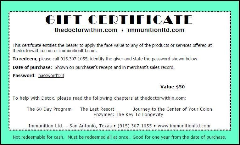 News and entertainment: gift certificate (Dec 31 2012 22:22:45)