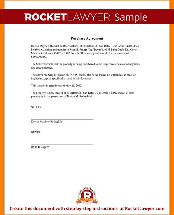 5+ purchase agreement template | Outline Templates