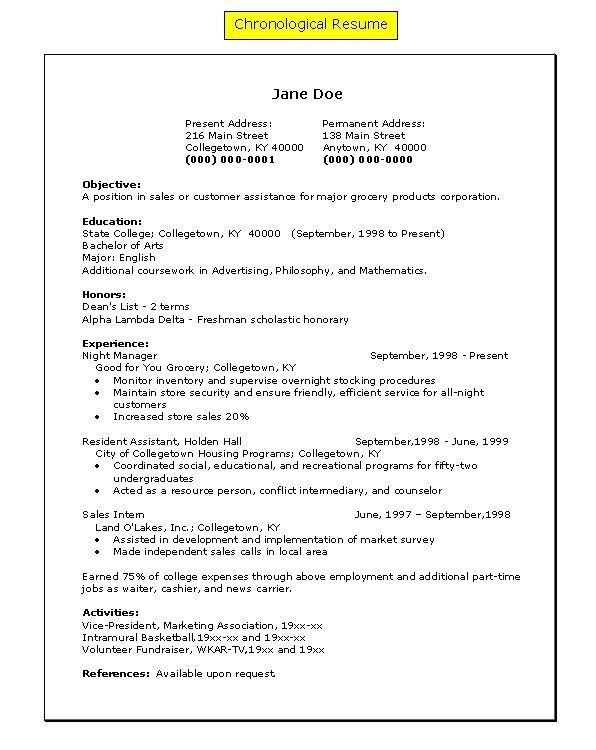 Excellent Resume Order Of Jobs 23 For Your Simple Resume With ...