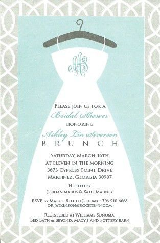 Bridal Shower Invite Wording | badbrya.com