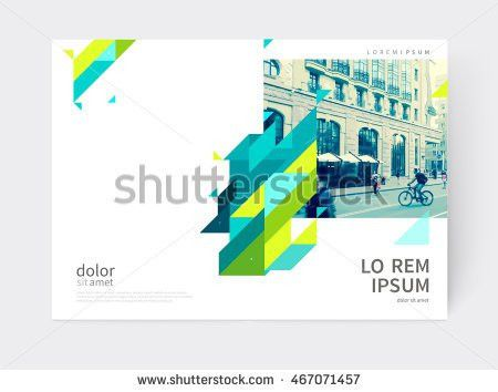 Vector Abstract Geometric Background Annual Report Stock Vector ...
