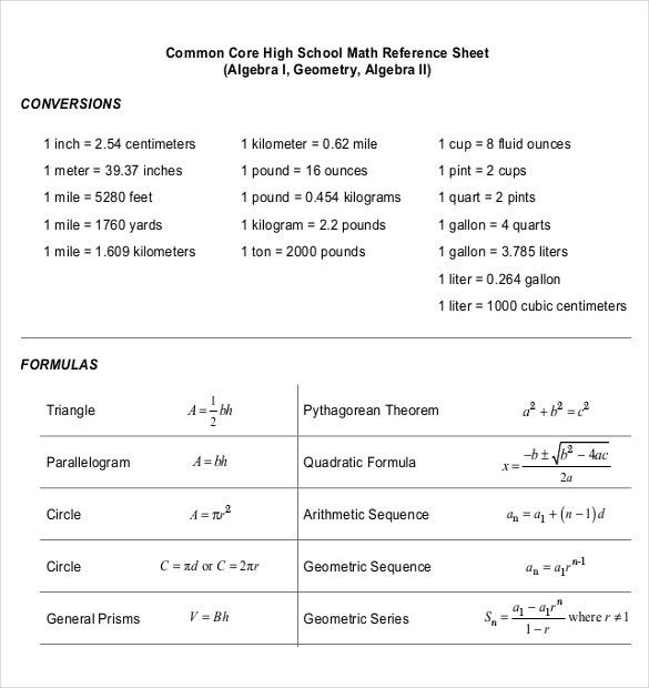 Common Core Sheet Templates – 6+ Free PDF Documents Download ...