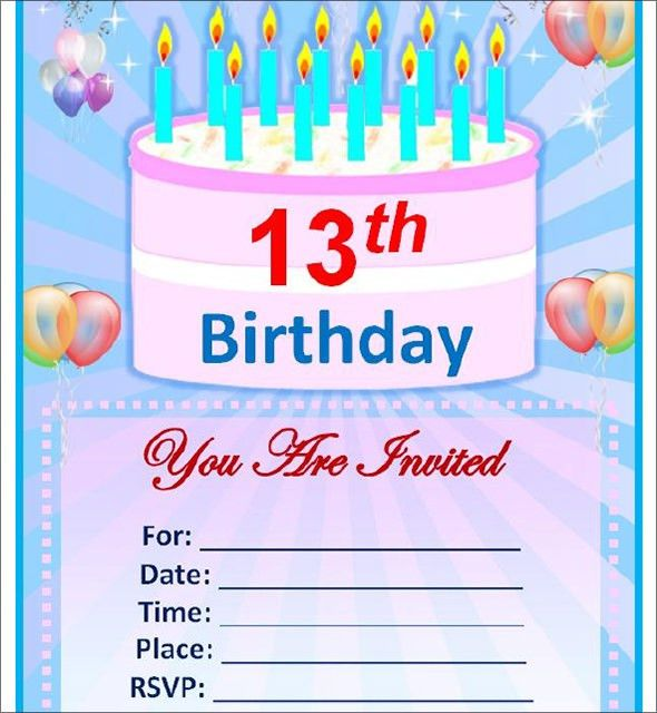 Free Birthday Invitation Template – gangcraft.net