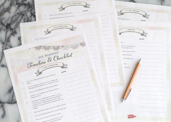 Free Wedding Planning Timeline Checklist Printable | The Elli Blog