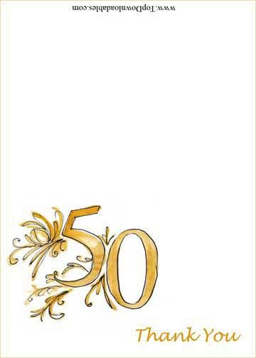 Free Printables - 50Th Wedding Anniversary Wording