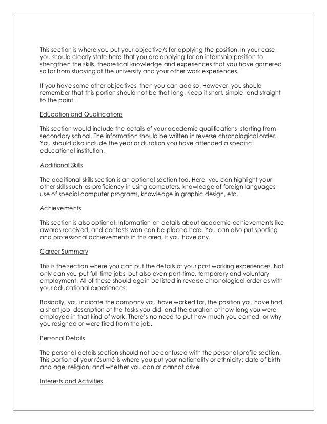 sample job objective resume writing career objective statement
