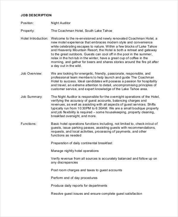 Auditor Job Description. Top 10 Audit Assistant Interview ...