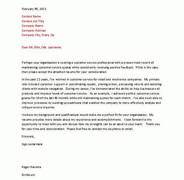 cozy inspiration cover letter for customer service 4 example cv