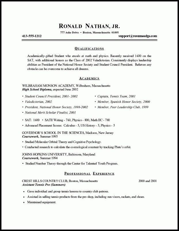 Student Resume Summary - Best Resume Collection