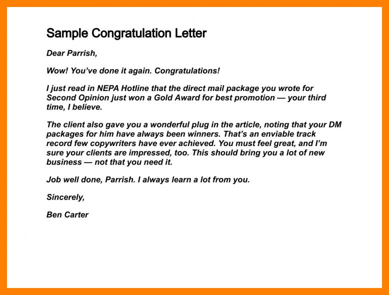 7+ congratulation letter for award | packaging clerks