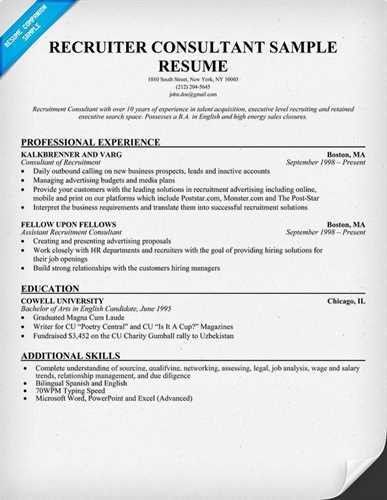 it recruiter resume technical recruiter resume example recruiter