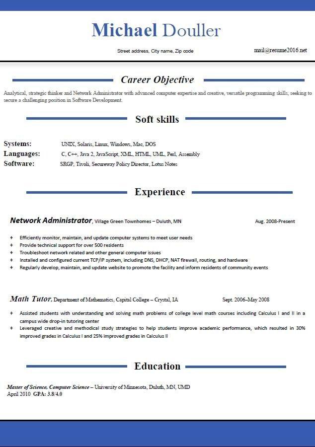 Resume Template Download Word. Download Sample Resume Updated ...