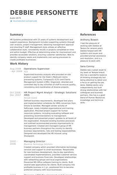 Operations Supervisor Resume samples - VisualCV resume samples ...