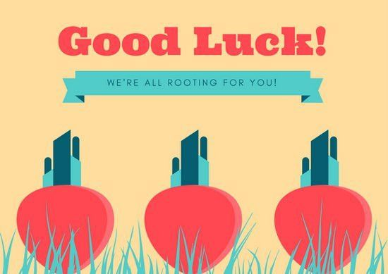 Good Luck Card Templates - Canva