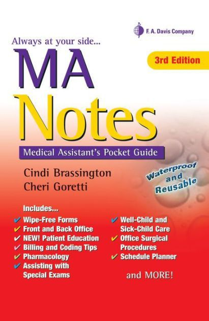 MA Notes: Medical Assistant's Pocket Guide / Edition 3 by Cindi ...