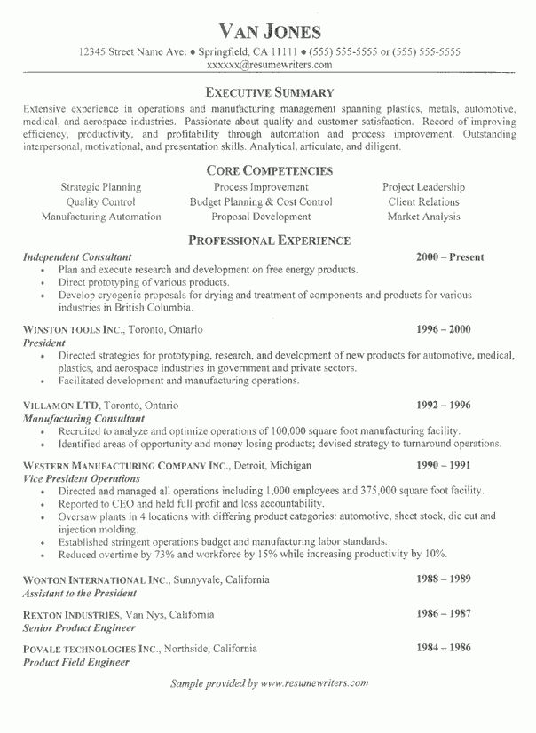 Project Manager Resume Sample: Project Management Example Resumes