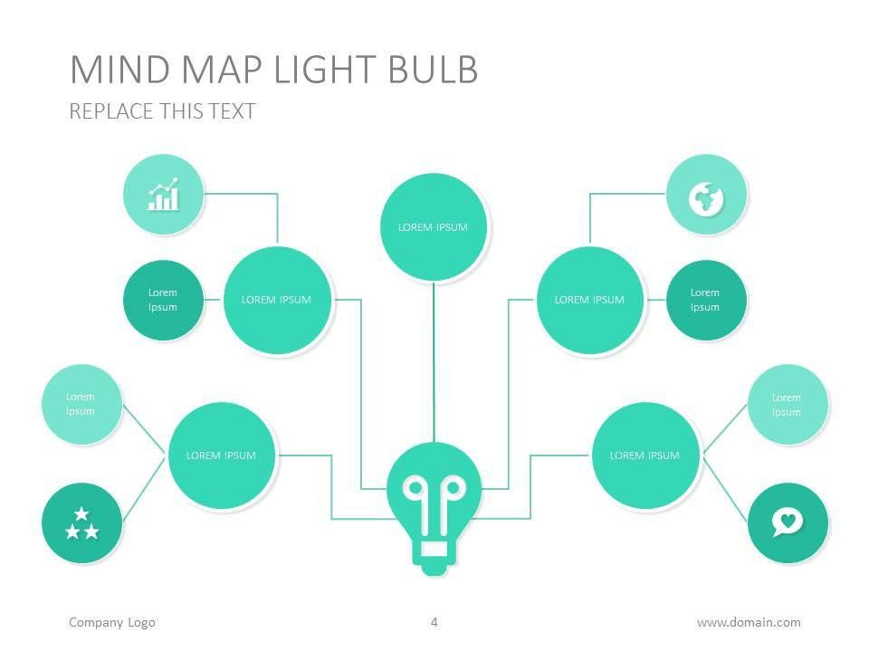 Mind map presentation template design #bulb #idea #presentation ...
