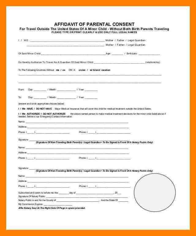 10+ affidavit of parental consent | resume language