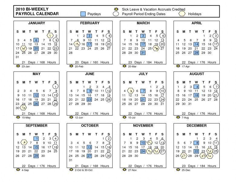 Free Payroll Calendar 2016 Biweekly Template :-Free Calendar Template