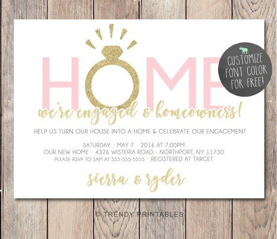 Engagement Party Invitation Housewarming Party Invitation