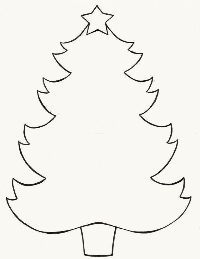 Template For Christmas Tree - Coloring Home