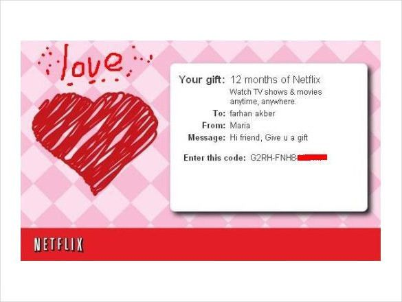 5+ Netflix Gift Certificate Templates – Free Sample, Example ...