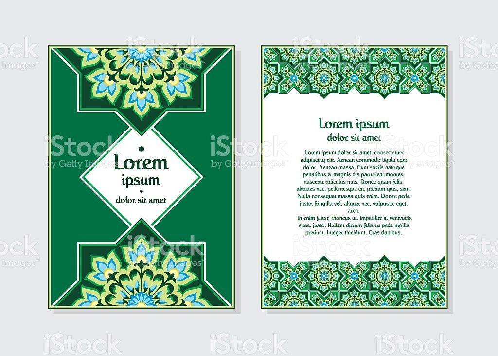 Invitation Card Template Green stock vector art 619737754   iStock