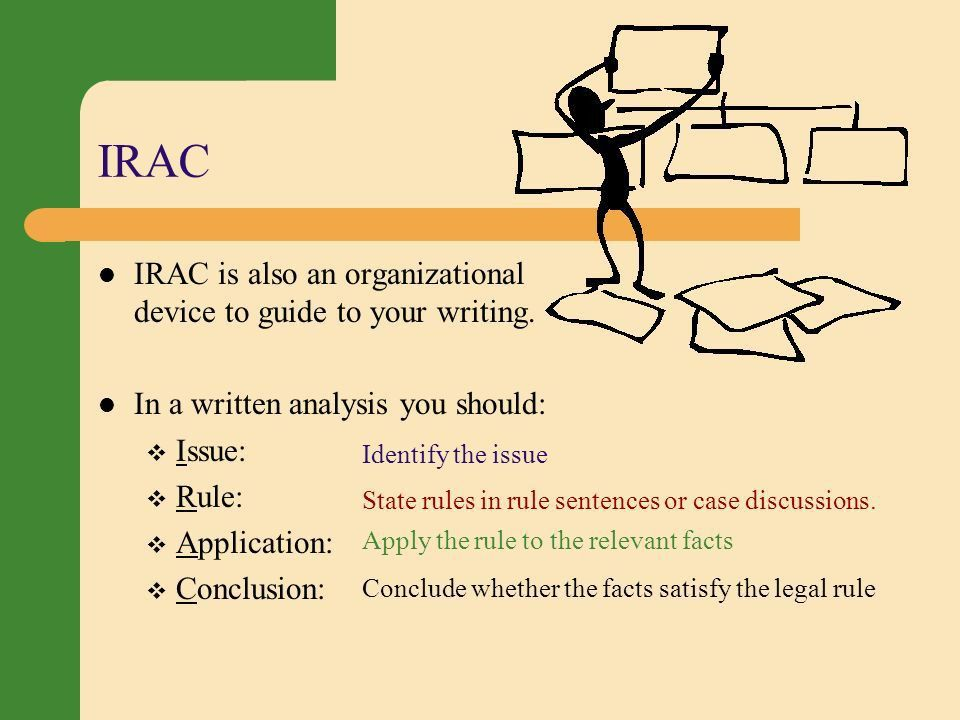 Organizing Your Legal Analysis - ppt video online download