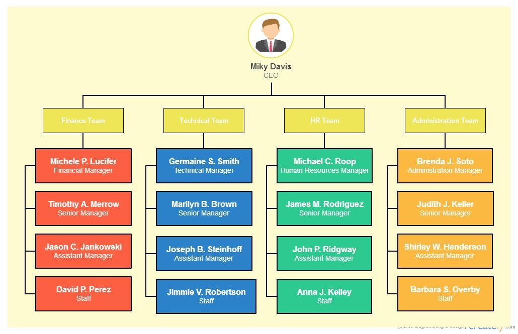Types of Organizational Charts for Different Scenarios - Creately Blog