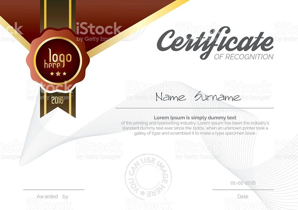 A4 Certificate Layout stock vector art 618618282 | iStock