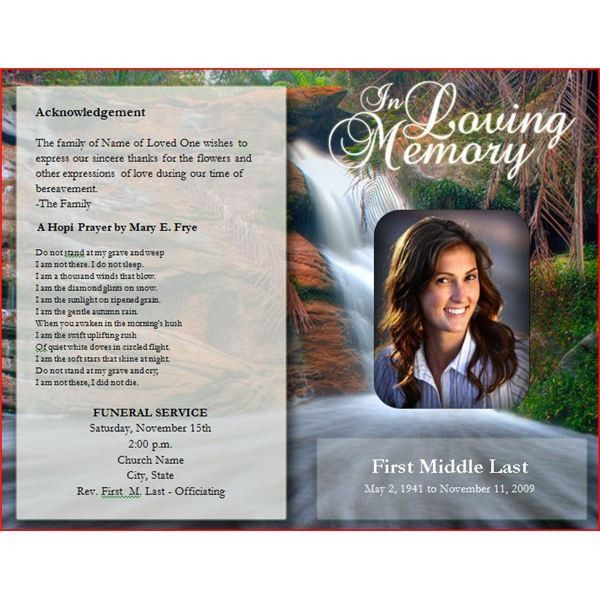 Downloadable Funeral Bulletin Covers | Free Funeral Program ...