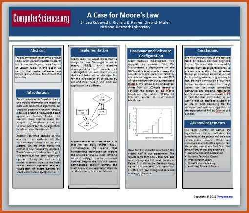 academic poster template | sop example