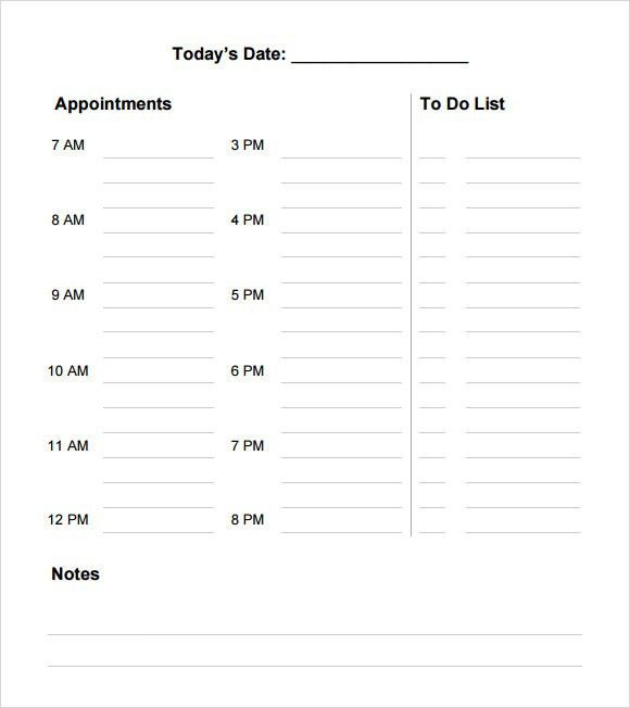 Daily Agenda – 6+ Free Samples , Examples , Format