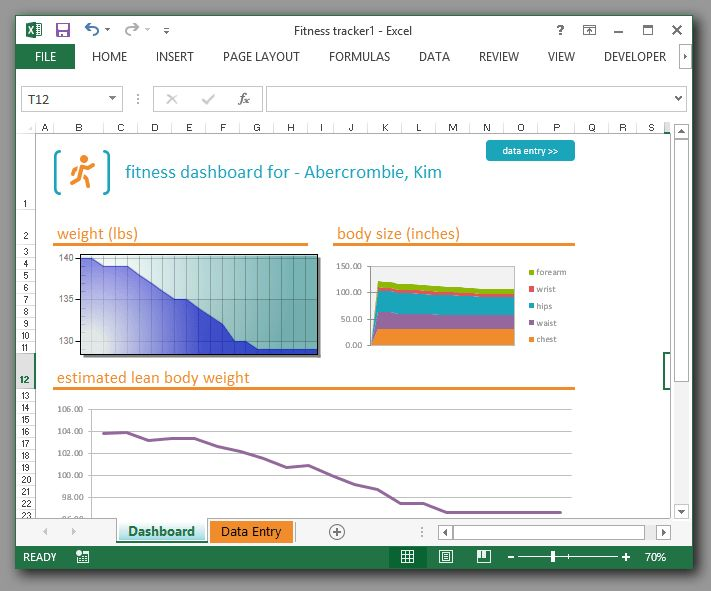 Excel Charting ActiveX example with VB code to read cells.